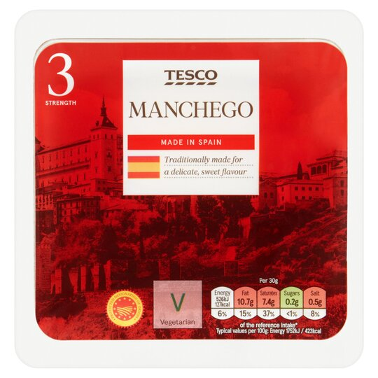 Tesco Manchego Cheese 150G