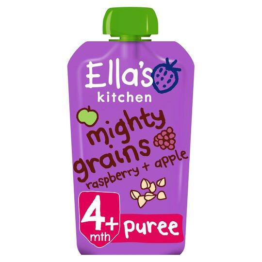Ella's Kitchen Raspberry Apple Plus Buckwheat 120G