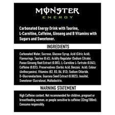 image 2 of Monster Origin Energy Drink 4 X 500Ml