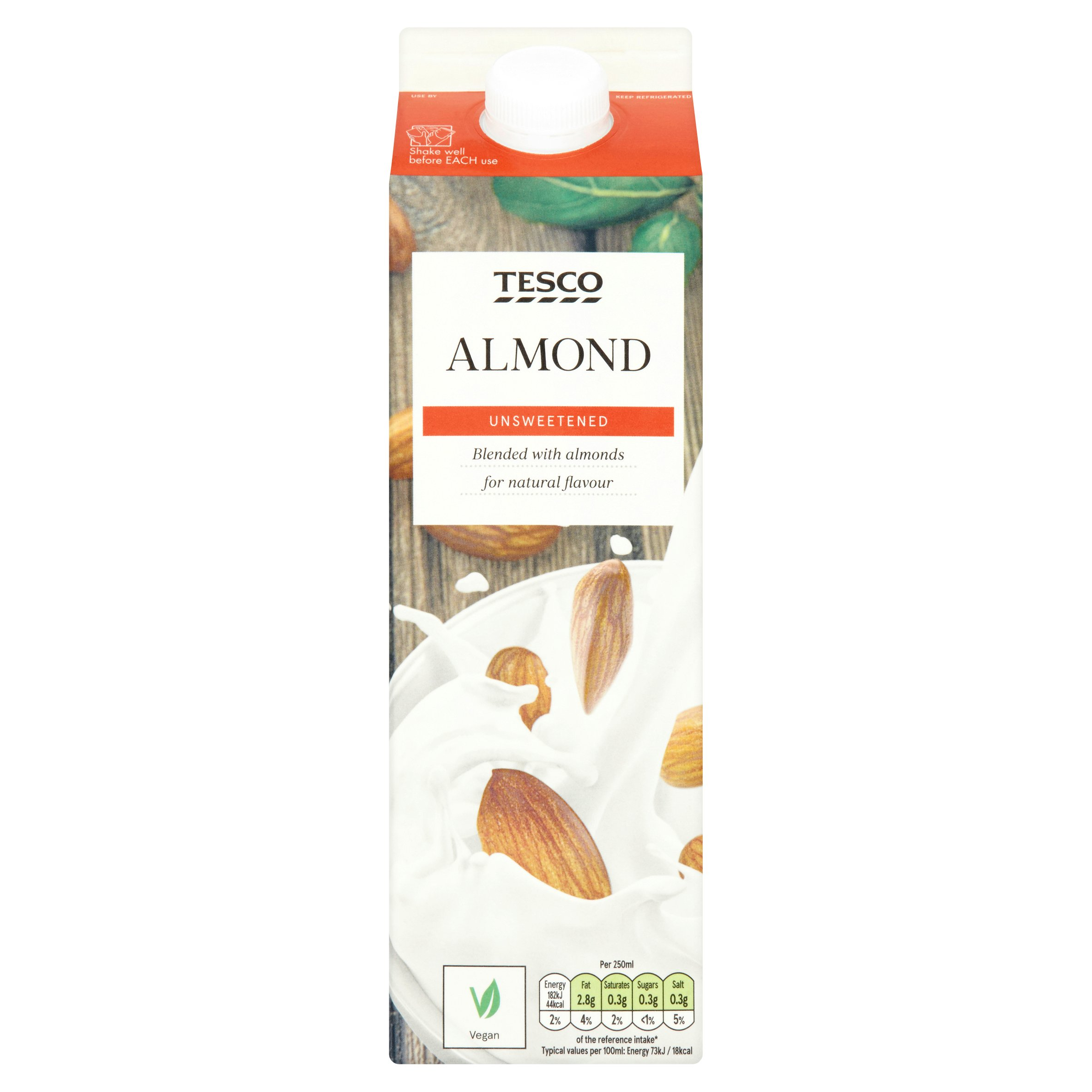 Tesco Unsweetened Almond Milk Alternative 1L