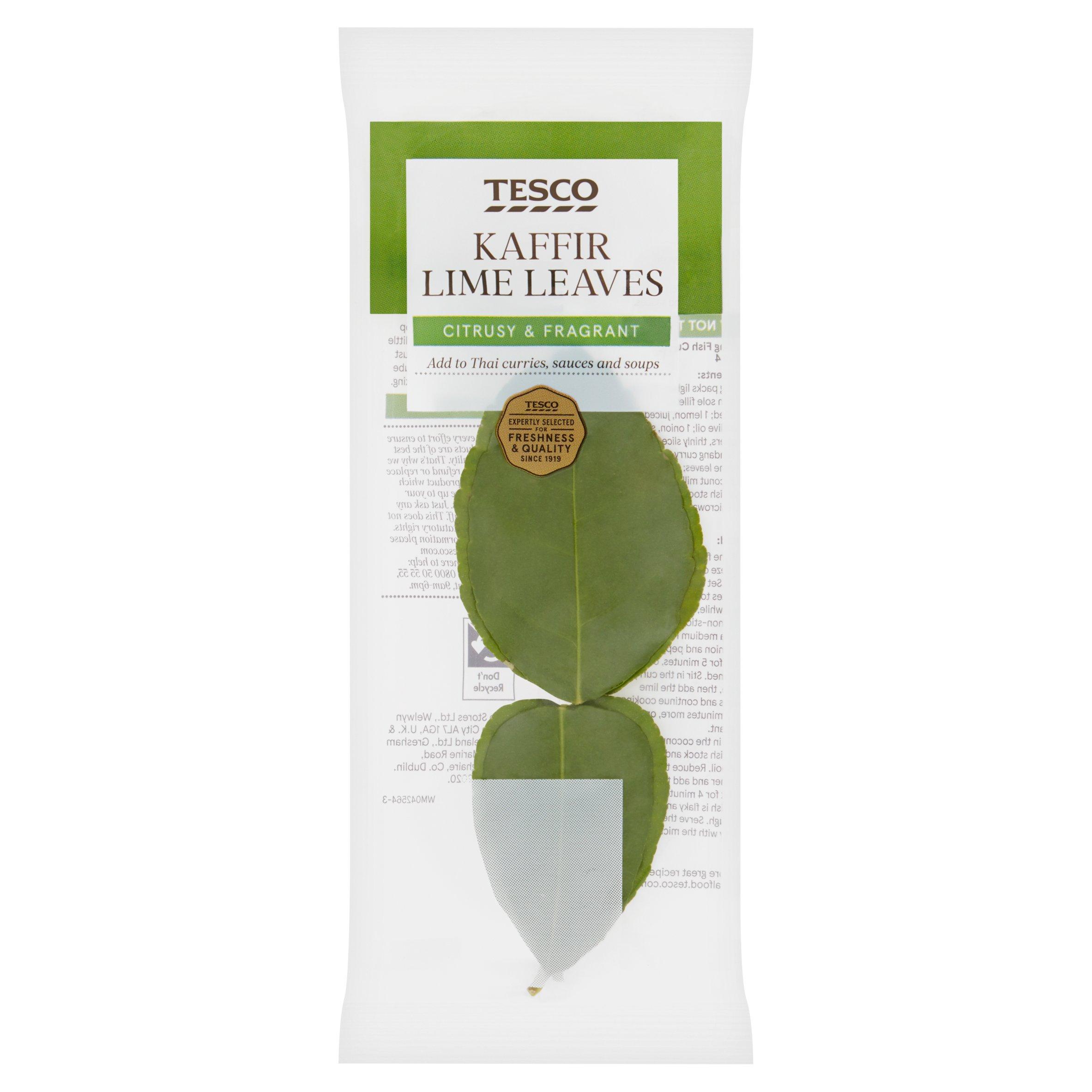 Tesco Makrut Lime Leaves 2 Per Pack