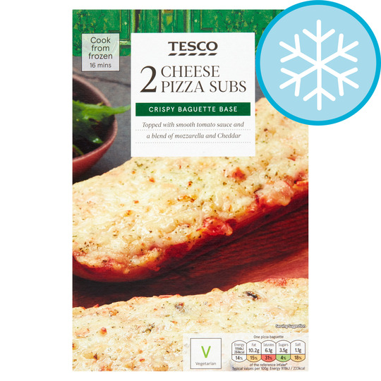 Tesco 2 Pizza Subs Cheese 260g Tesco Groceries