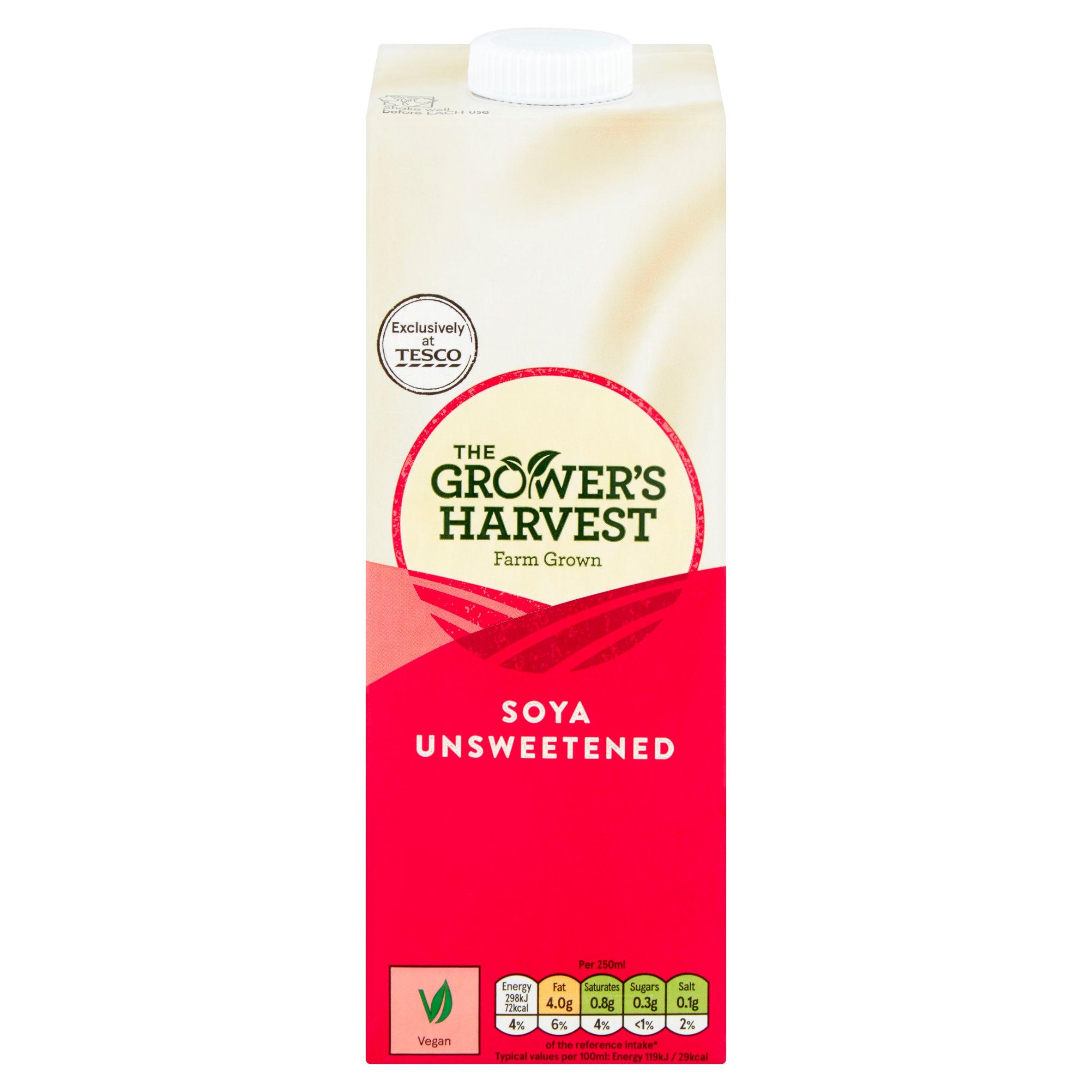 Growers Harvest Unsweetened Soya Drink 1L