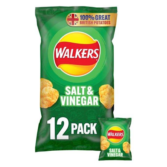 image 1 of Walkers Salt & Vinegar Multipack Crisps 12X25g