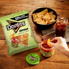 image 2 of Doritos Dippers Hint Of Lime Tortilla Chips 270G