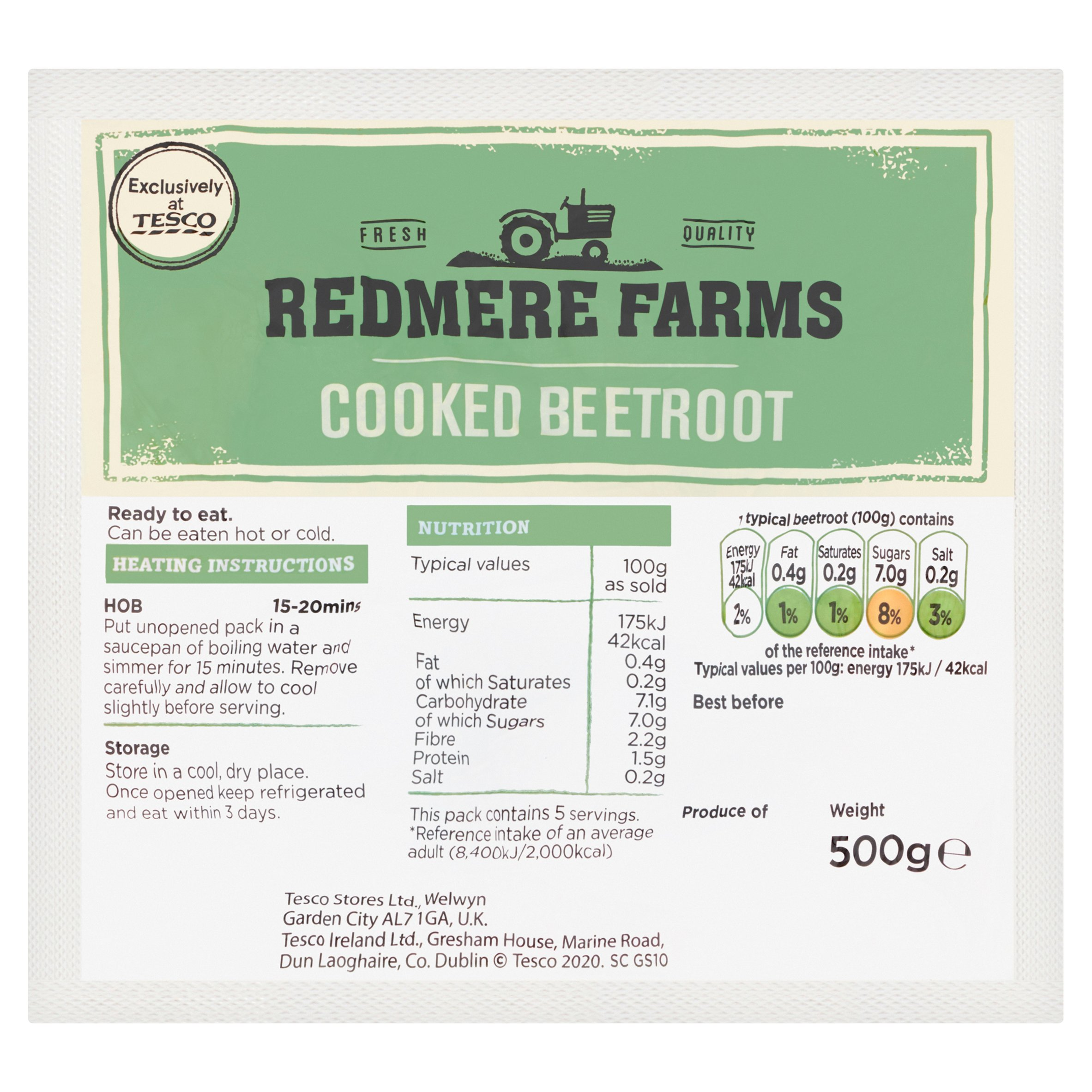 Redmere Farms Beetroot 500G