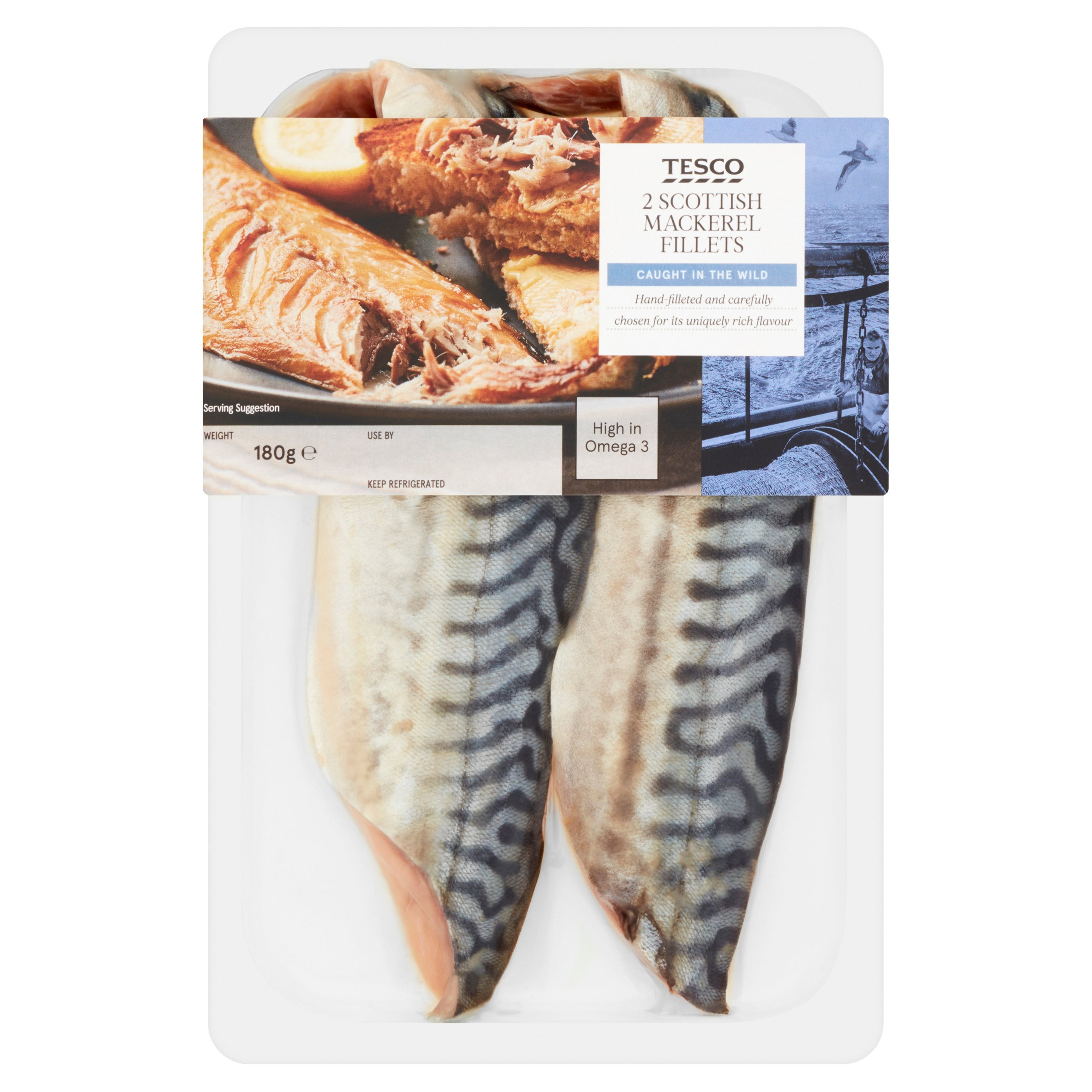 Tesco Scottish Mackerel Fillets 180G
