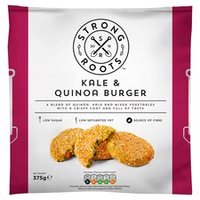 image 1 of Strong Roots Kale & Quinoa Burger 375G