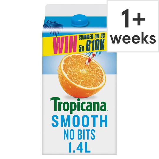 image 1 of Tropicana Smooth Orange Juice 1.4 Litre