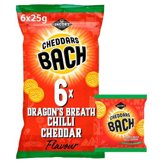 Jacob's Bach Cheddars Chilli Cheddar 6X25g