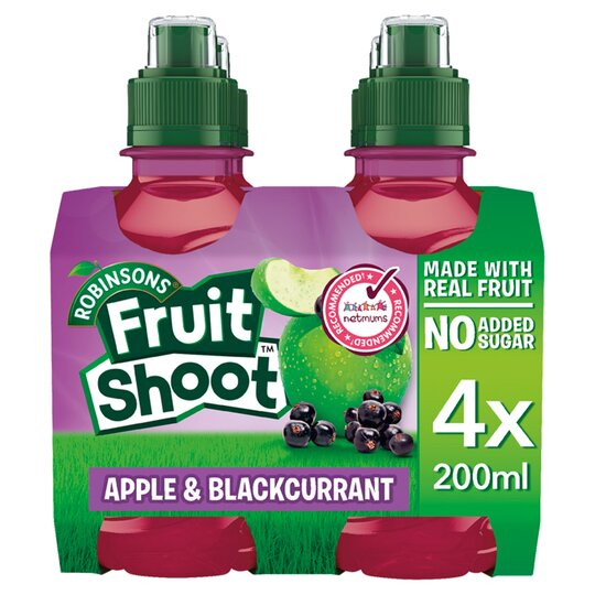 image 1 of Robinsons Fruit Shoots Blackcurrant & Apple No Added Sugar 4X200ml