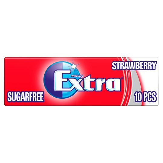 Extra Strawberry Gum 10 Pieces