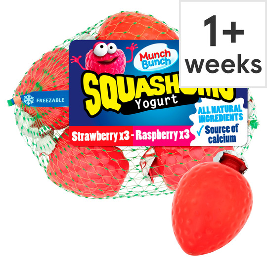 Munch Bunch Squashums Strawberry & R'berry 6X60g