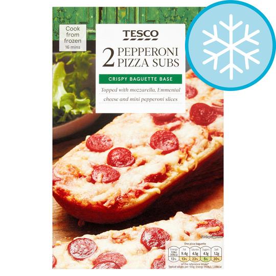 Tesco 2 Pizza Subs Pepperoni 250g