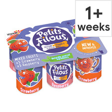 image 1 of Petits Filous Strawberry & Raspberry Fromage Frais 6 X 47G