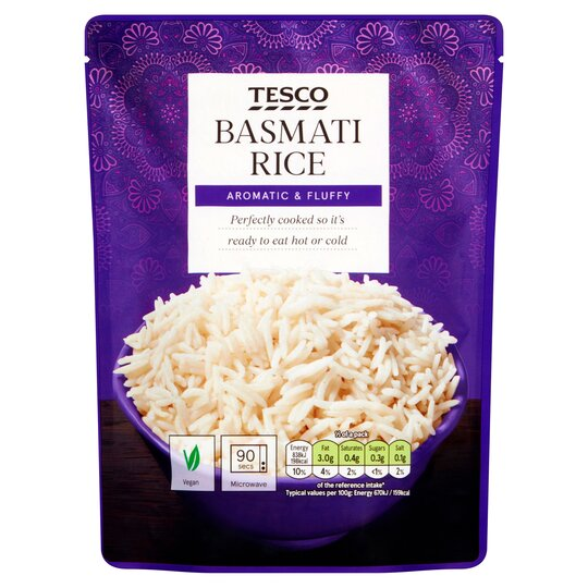 Tesco Microwave Basmati Rice 250g