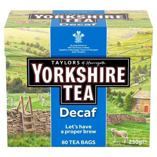 Yorkshire Tea Decaffeinated 80 Teabags 250G