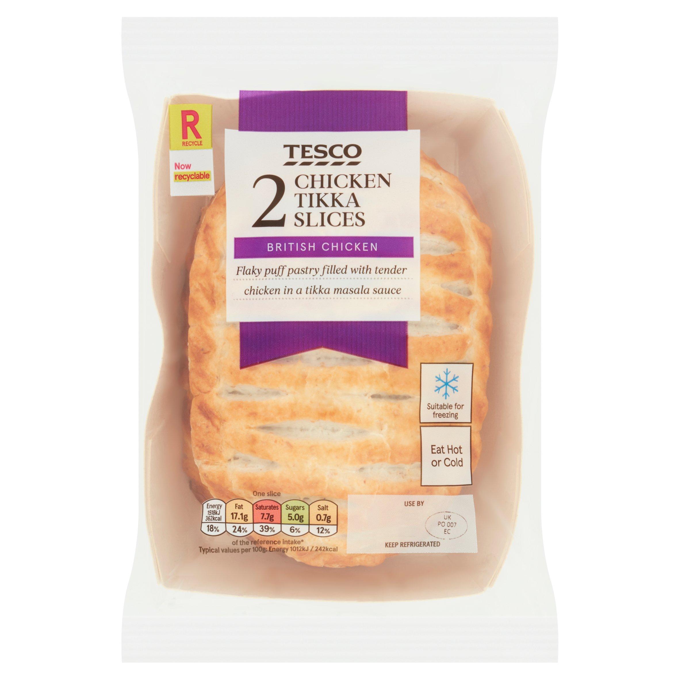 Tesco 2 Chicken Tikka Slices 300G