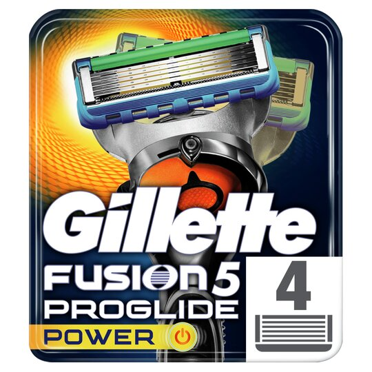 image 1 of Gillette Fusion Proglide Power Razor Blades 4 Pack