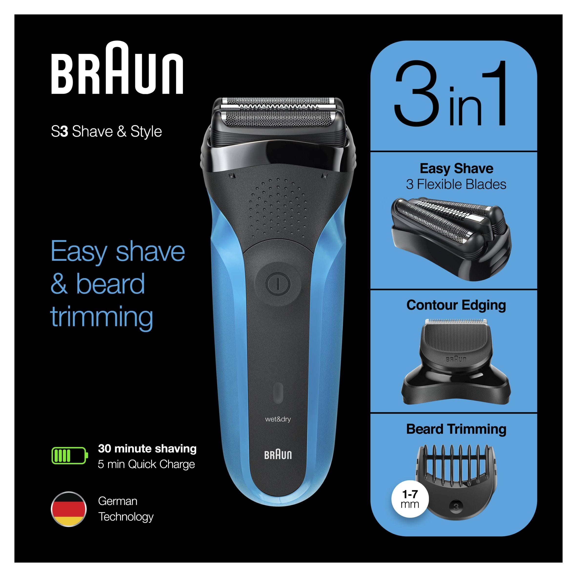Braun Series 3 310Bt Shaver And Styler