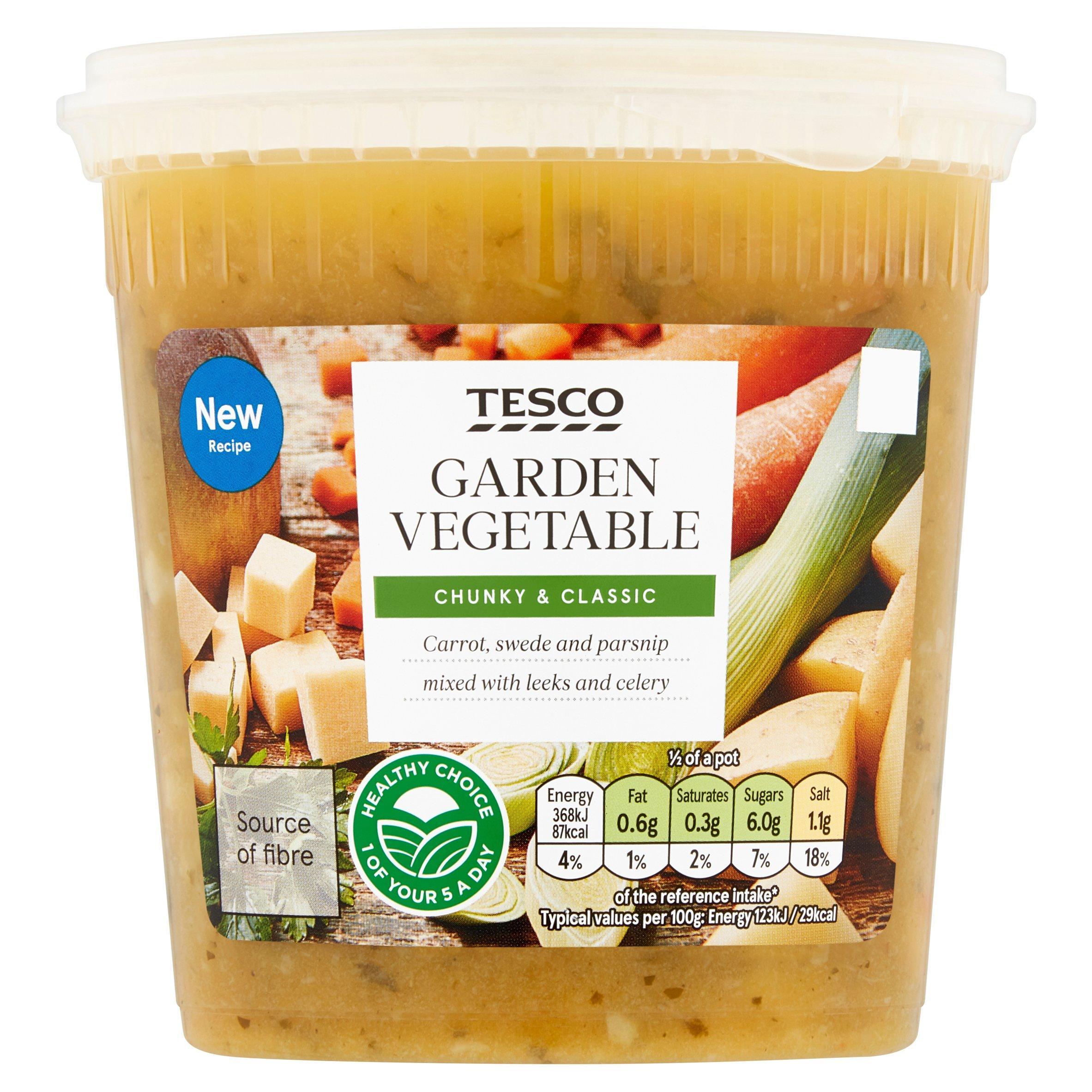 Tesco Vegetable Soup 600G