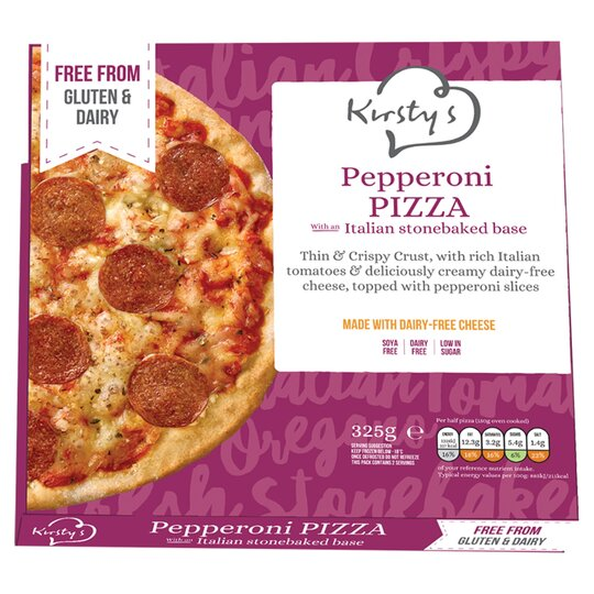 Kirstys Free From Pepperoni Pizza 325g