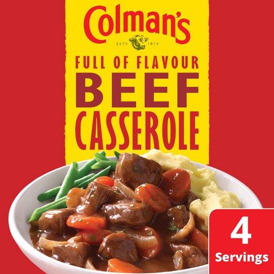 Colman S Beef Casserole Recipe Mix 40g Tesco Groceries