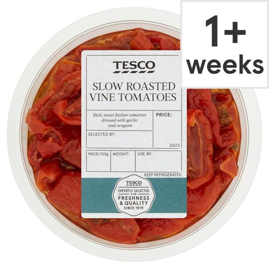 Tesco Slow Roasted Vine Tomatoes 175G
