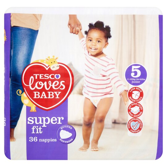 Tesco Loves Baby SFit Size 5 Economy Pack 36