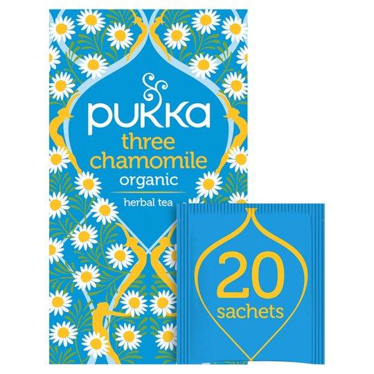 Pukka Organic 3 Chamomile 20 Tea Bags 30G