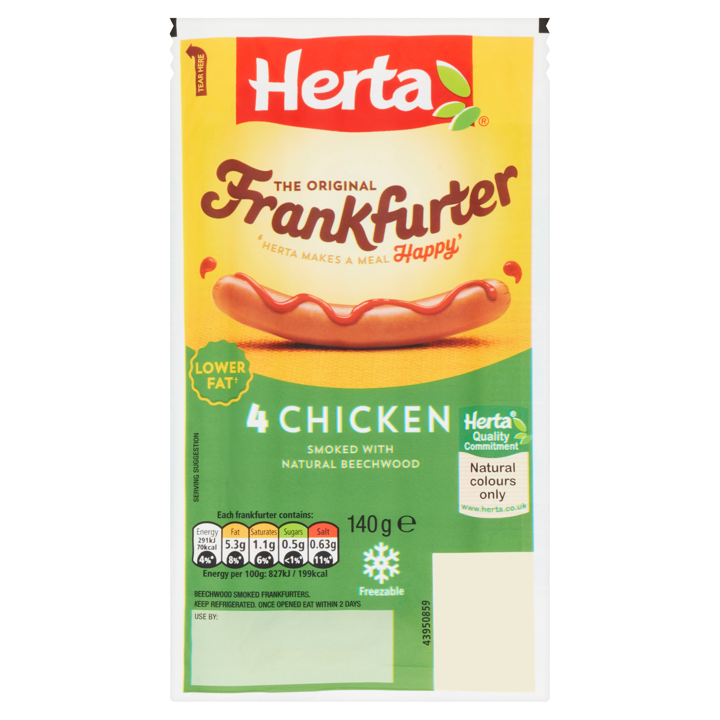 Herta 4 Chicken Frankfurter Hot Dog 140G