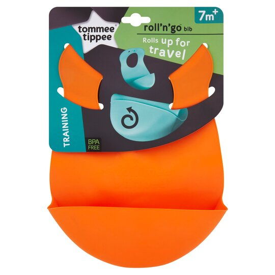 Tommee Tippee Roll N Go Bib - available in various colours