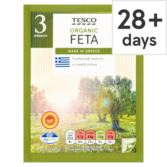 Tesco Organic Greek Feta 200G