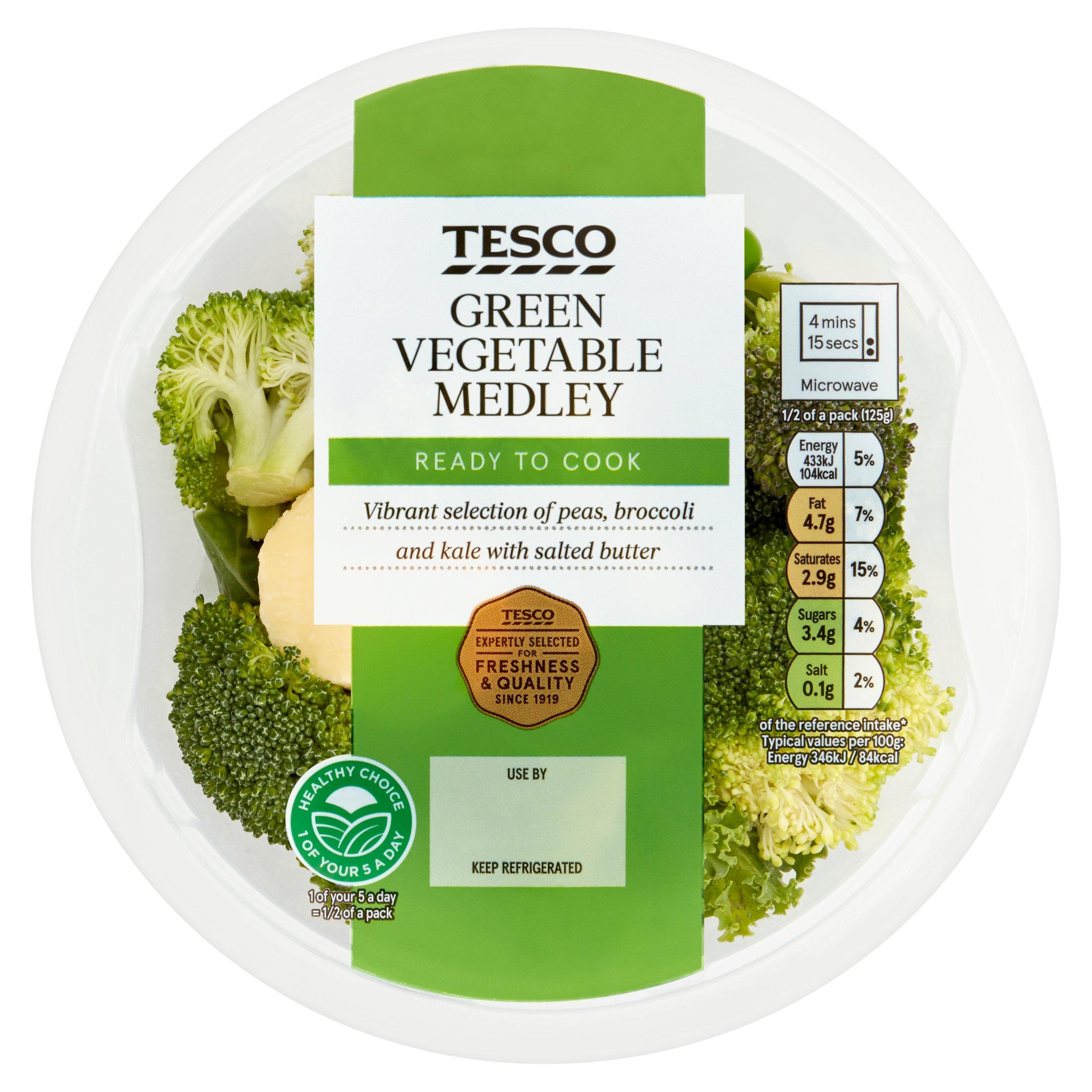 Tesco Green Vegetable Medley 250G