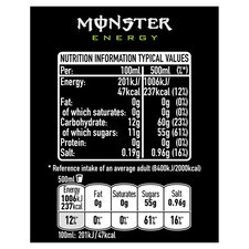 image 3 of Monster Origin Energy Drink 4 X 500Ml