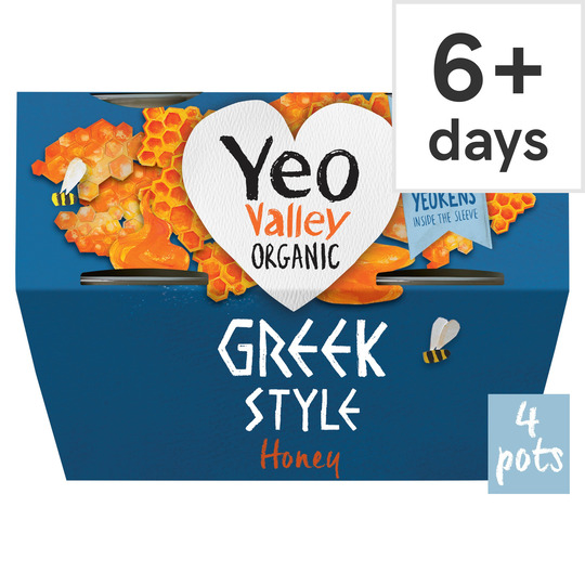 Yeo Valley Greek Style Honey Yogurt 4X100g