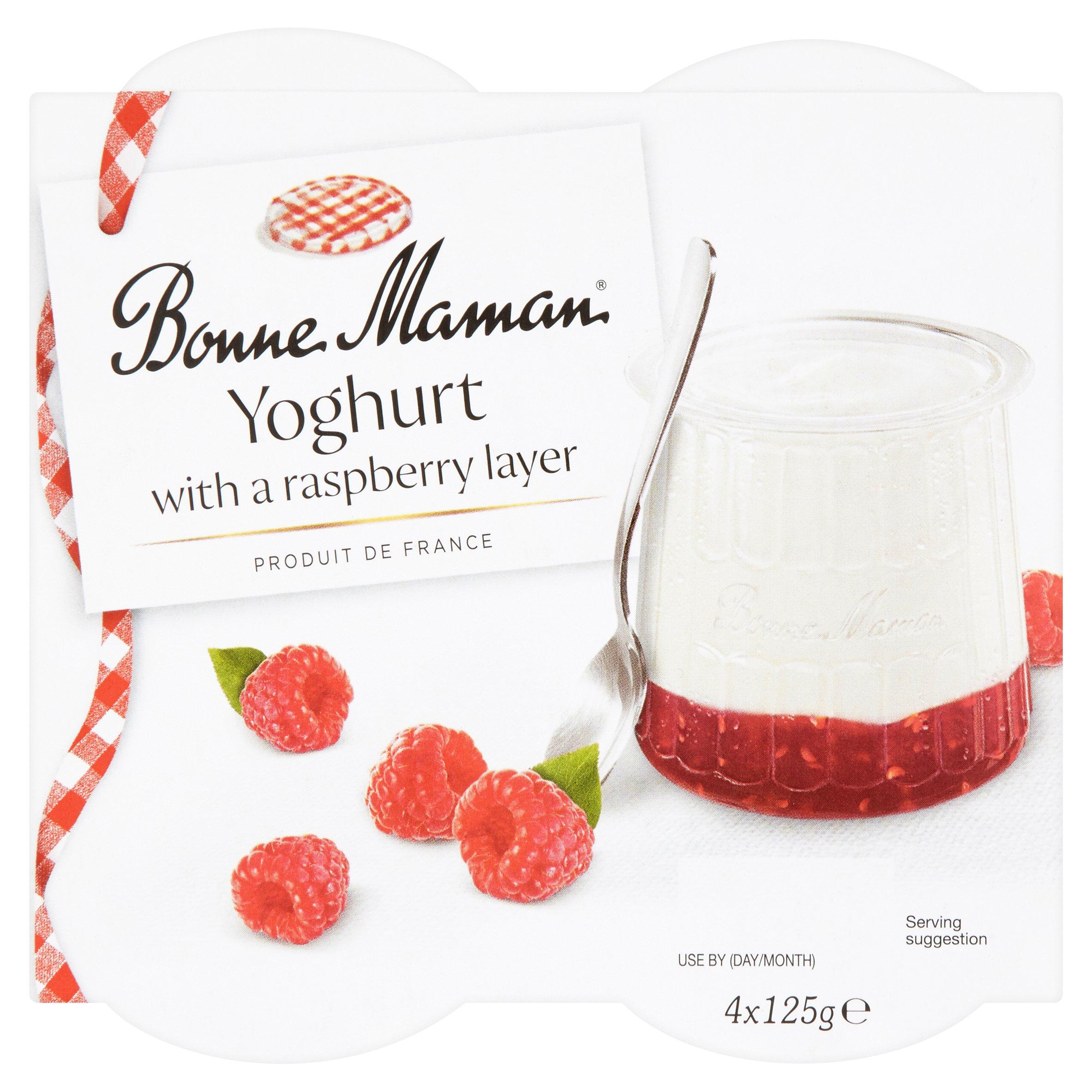 Bonne Maman Yogurt With Raspberry Layer 4 X 125G