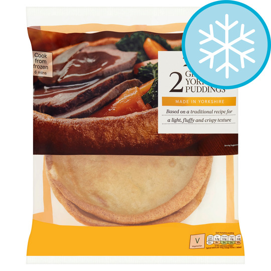 Yorkshire Pudding For 2 >> Tesco 2 Giant Yorkshire Puddings 220g