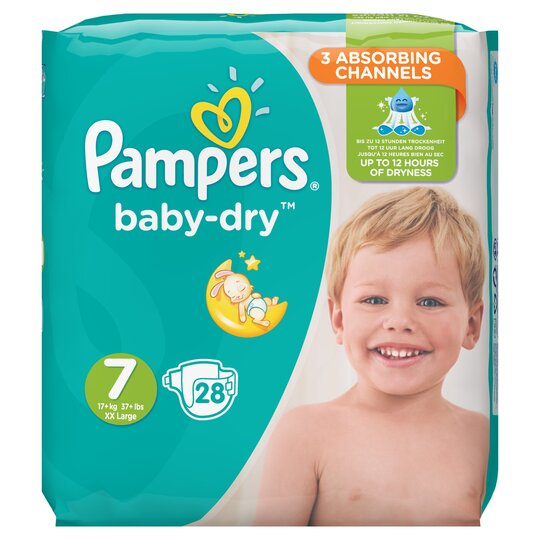 Pampers Baby Dry Size 7 Essential Pack 28 Nappies