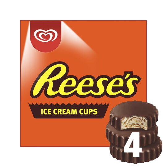 image 1 of Reese's Peanut Butter Ice Cream Cups 4 Pack 280Ml