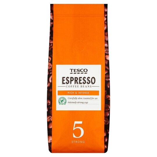 Tesco Espresso Coffee Beans 227g