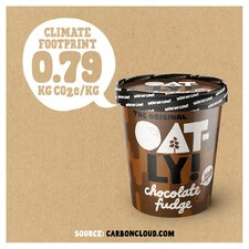 image 3 of Oatly Chocolate Fudge Ice Cream 500Ml