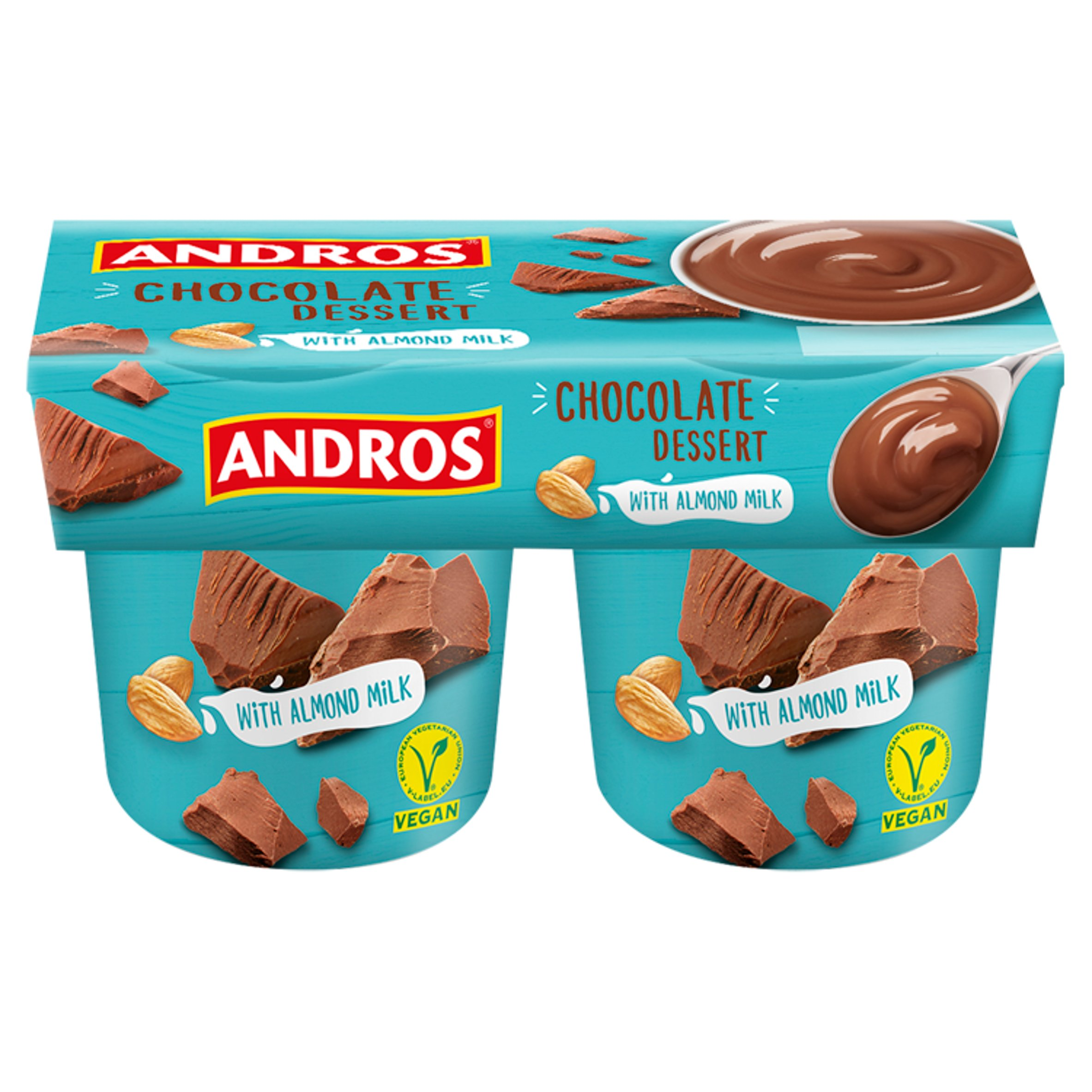 Andros Chocolate Dessert With Almond Milk 2 X 120G