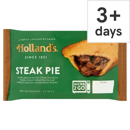 Hollands Prime Steak Pie - Tesco Groceries