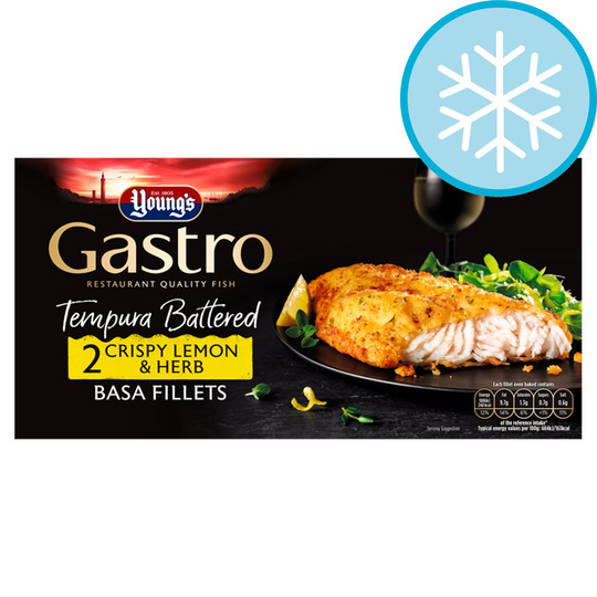 Youngs Gastro 2 Crispy Lemon Basa Fillets 310G
