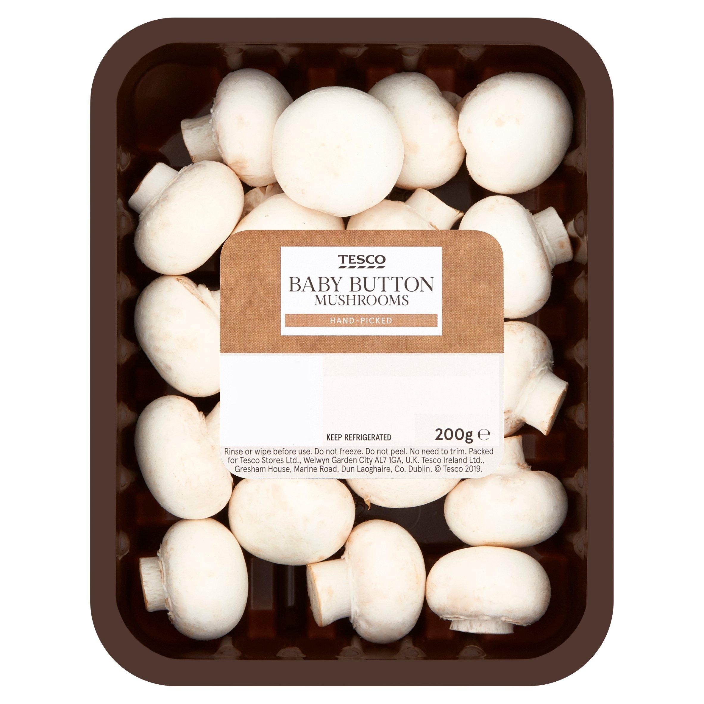 Tesco Baby Button Mushrooms 200G