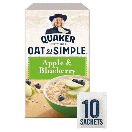 image 1 of Quaker Oat So Simple Apple Blueberry Porridge 10X36g