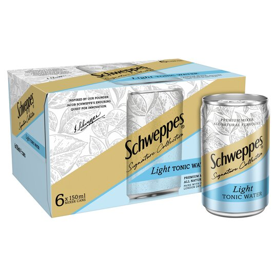 image 1 of Schweppes 1783 Light Tonic Water 6X150ml