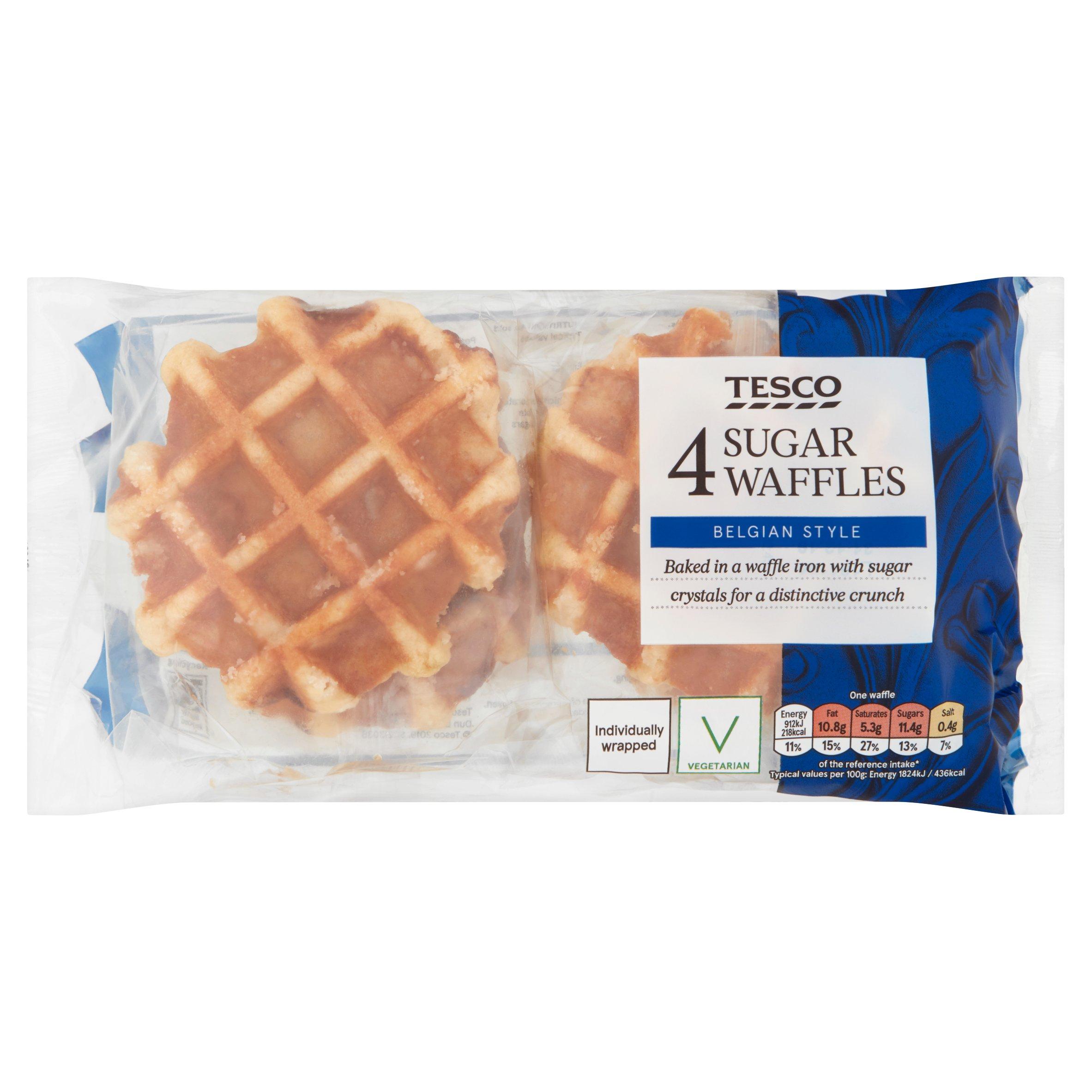 Tesco Sugar Waffles X4