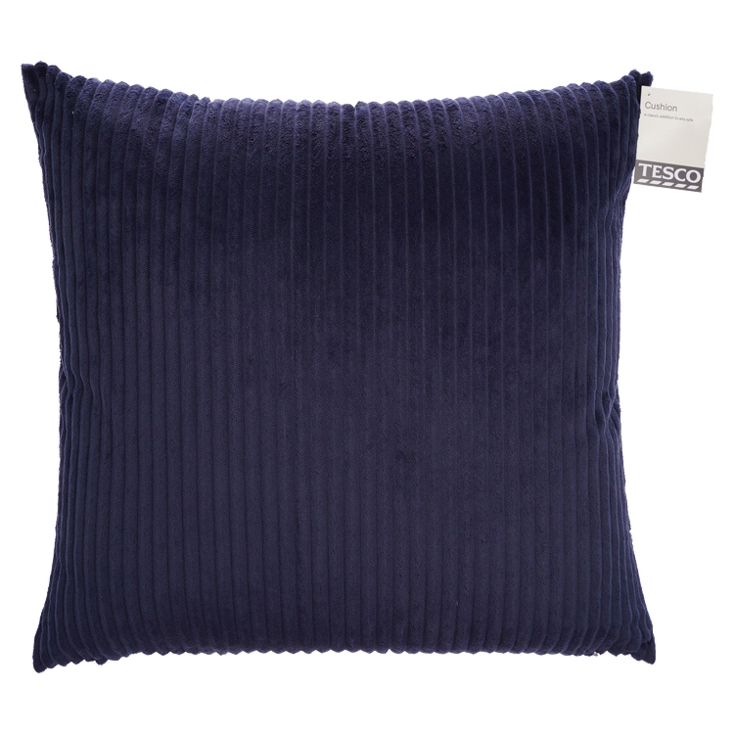 Tesco Jumbo Cord Cushion Navy